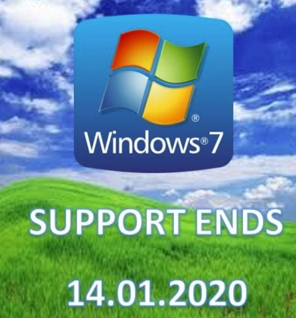 Windows 7 support ends 14.01.2020