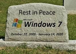 RIP Windows 7 hello Windows 10